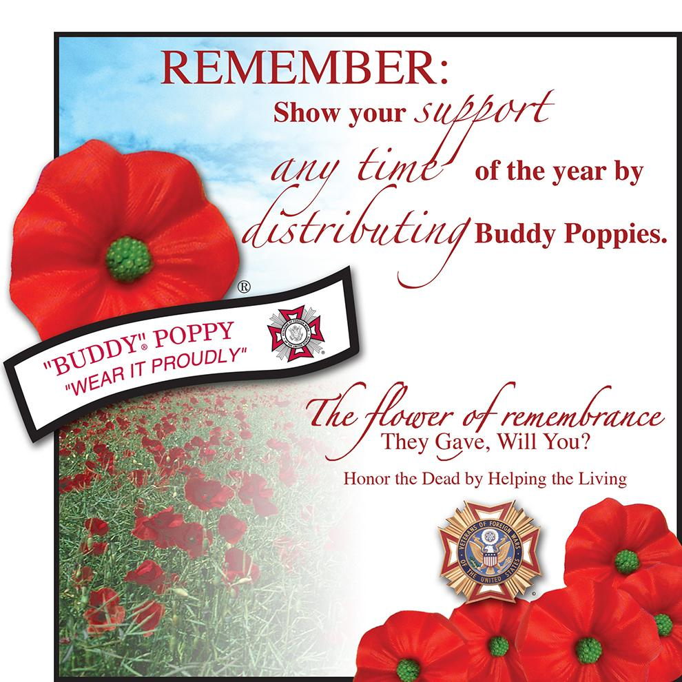 Purchase A Buddy Poppy This Month, Support Veterans