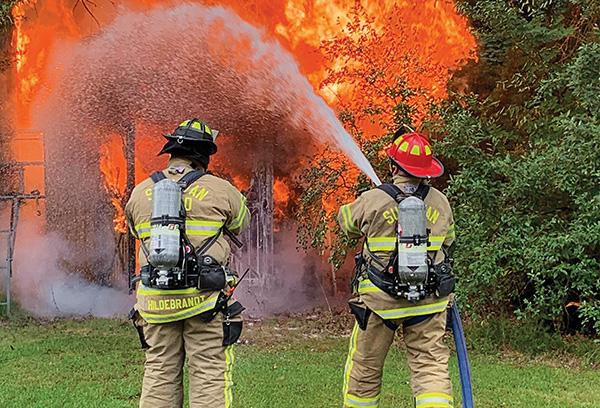 Firefighters Extinguish Shed Fire Sullivan Independent News
