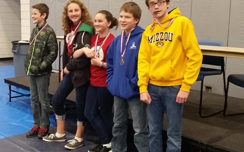 Hard work pays off with Third Place medals for St. Anthony's 6th graders.