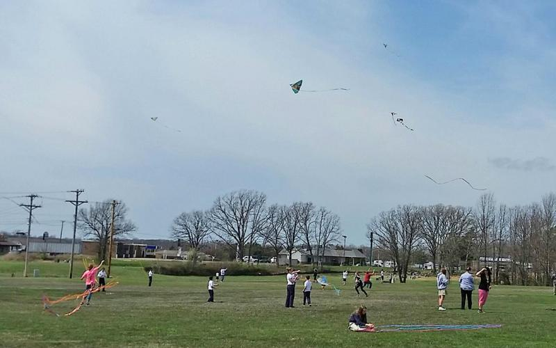 UP, UP, BUT NOT AWAY! The students enjoyed being able to celebrate spring with Kite Day.