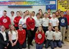 ALUMNA PAIGE HULSEY (of KMOV) visited the 5th through 8th grades.