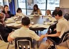 STUDENT COUNCIL sponsored a Seder Meal for the entire school.